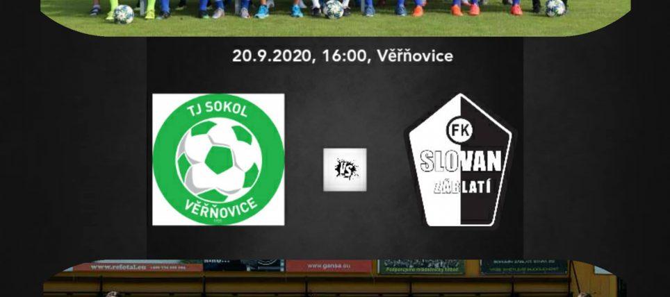 Preview: TJ Sokol Věřňovice vs. FK Slovan Záblatí